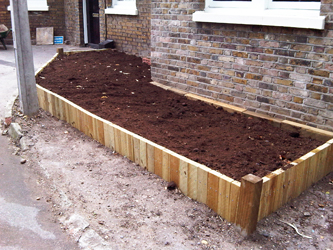 muddy boots landscaping Sleepers Beds and Borders